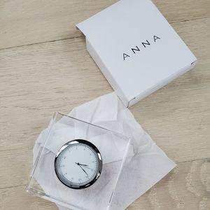 Anna Vola Lucite Desk Clock Brand New